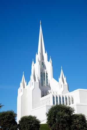 lds: Temple of The Church of Jesus Christ of Latter-Day Saints (LDS) or Mormons in San Diego, California   Stock Photo
