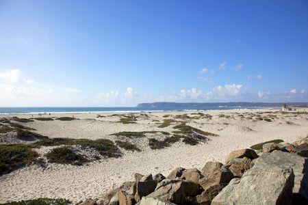 Beach in Coronado, San Diego, California Фото со стока