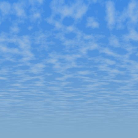 Blue sky and clouds seamless background illustration Stock Photo