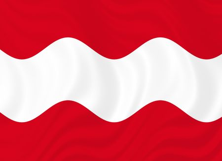 teutonic: Illustration of Flag of Austria waving in the wind