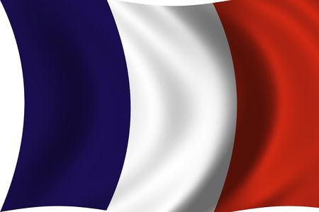 anthem: Illustration of France flag waving in the wind