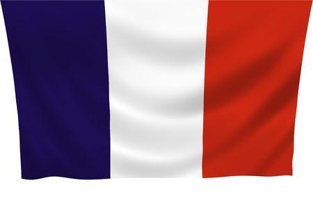 anthem: Illustration of France flag waving in the wind