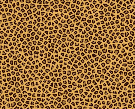 Illustration of leopard fur, seamless illustration