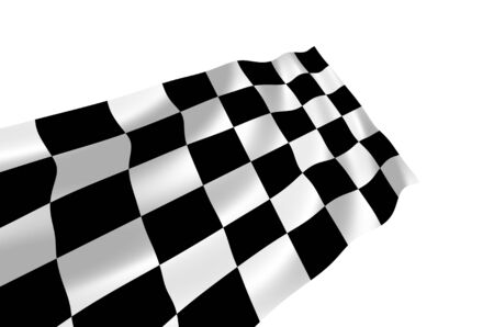 Illustration of racing flag waving in the wind (see more other flags in my collection) Stock Illustration - 6646816