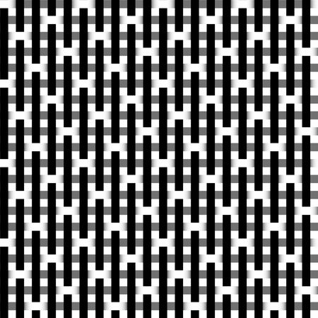 tartan: Seamless black and white vivid pattern background Stock Photo