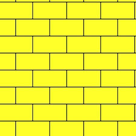 Yellow brick wall seamless background illustration