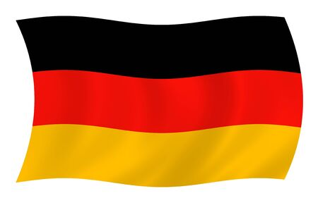 Illustration of Germany flag waving in the wind illustration