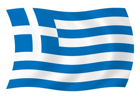 Illustration of flag of Greece waving in the wind illustration