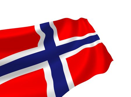 norway flag: Illustration of Norway flag waving in the wind