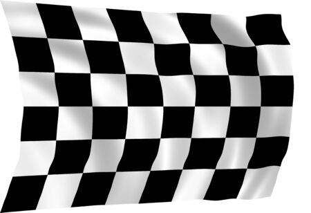Illustration of racing flag waving in the wind (see more other flags in my collection) illustration