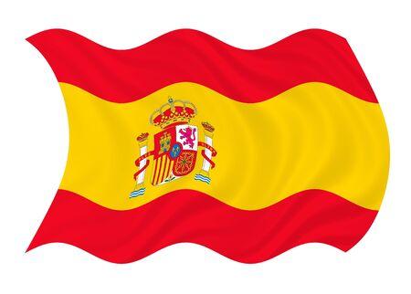 Flag of Spain waving in the wind