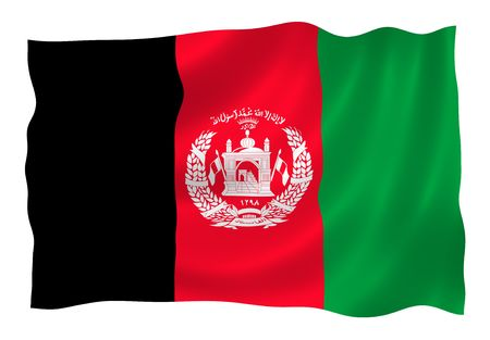 ideograph: Illustration of Afganistan flag waving in the wind Stock Photo