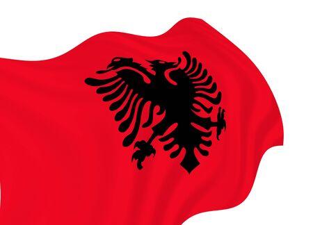 albania: Flag of Albania, waving in the wind