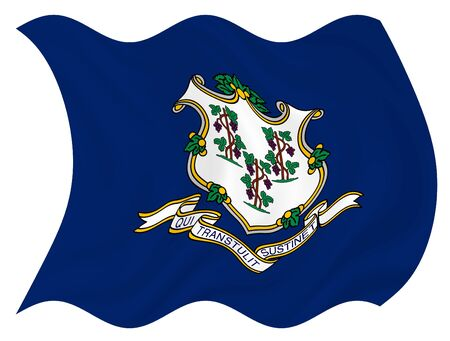Illustration of Connecticut State flag waving in the wind Stock Illustration - 6763827