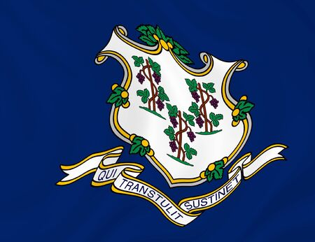 Illustration of Connecticut State flag waving in the wind Stock Illustration - 6763987