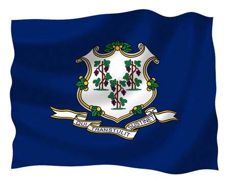 Illustration of Connecticut State flag waving in the wind Stock Illustration - 6763911