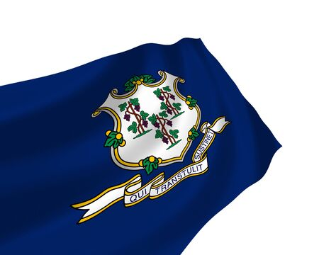 Illustration of Connecticut State flag waving in the wind Stock Illustration - 6764011