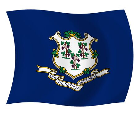 Illustration of Connecticut State flag waving in the wind Stock Illustration - 6763995