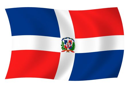 Illustration of Dominican Republic flags waving in the wind illustration
