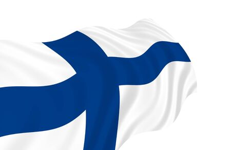 Illustration of Finland flag waving in the wind 版權商用圖片 - 6763834