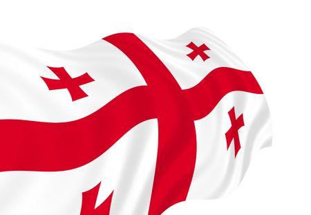 Illustratie die van de vlag van Georgië in de wind golven