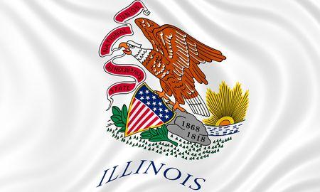 Illustratie van de staatsvlag die van Illinois in de wind golven Stockfoto - 6763920