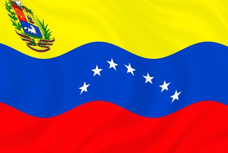 Illustration of Venezuela  flag waving in the wind illustration