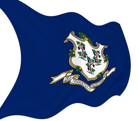 Illustration of Connecticut State flag waving in the wind Stock Illustration - 6835045