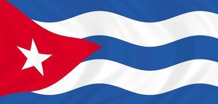 Illustration of Cuba flag waving in the wind Stock Illustration - 6835032