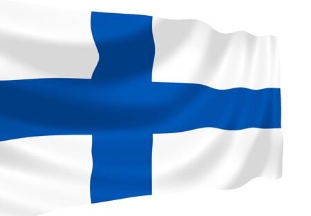 Illustration of Finland flag waving in the wind 版權商用圖片 - 6835025