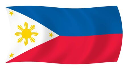 scale icon: Illustration of  Philippines flag waving in the wind