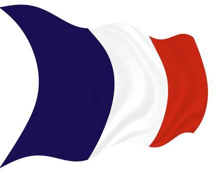 Illustration of France flag waving in the wind illustration