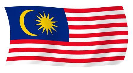 Illustratie van Maleisië vlag wappert in de wind Stockfoto - 6841273