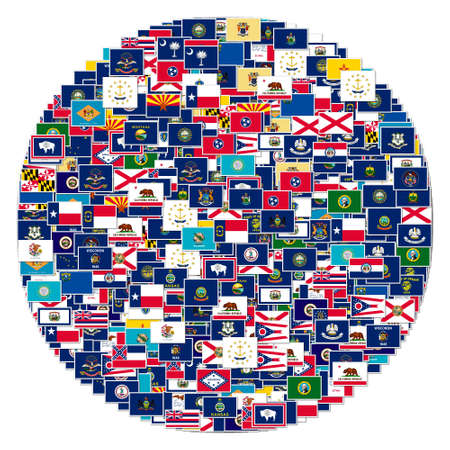 The flags of US states,collage