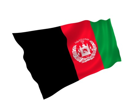 Illustration of Afganistan flag waving in the wind Stock Photo