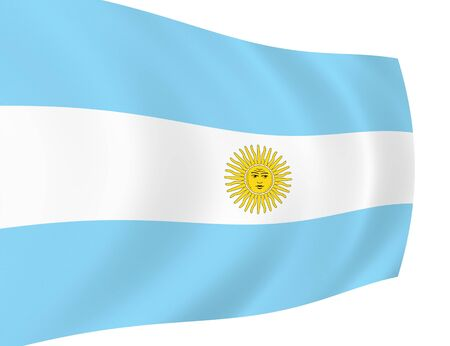 Flag of Argentina waving in the wind