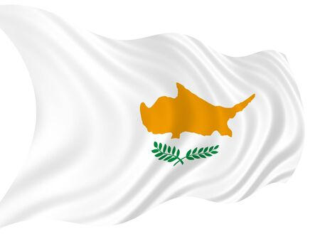pinboard: Illustration of Cyprus flag waving in the wind