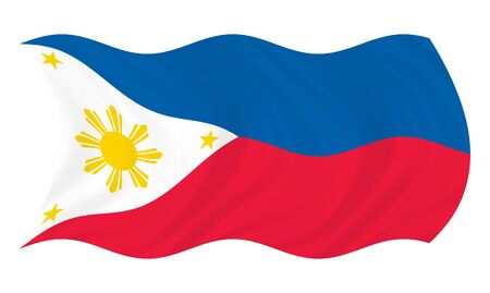 Illustration of  Philippines flag waving in the wind illustration