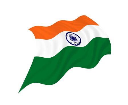 pinboard: Flag of India waving in the wind