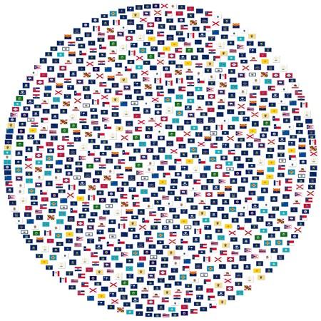 De vlaggen van Amerikaanse deel, collage  Stockfoto