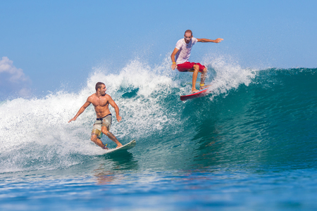 Picture of Surfing a Wave.GLand Surf Area.Indonesia. photo