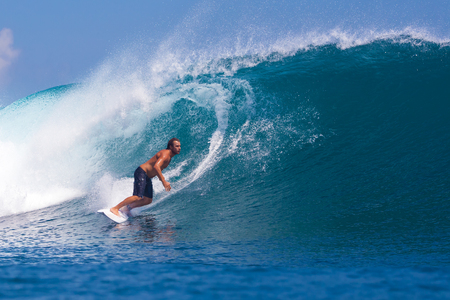 Picture of Surfing a Wave GLand Surf Area Indonesia