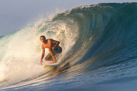 Picture of Surfing a Wave Sumbawa Island  Indonesia