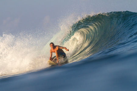 Picture of Surfing a Wave Sumbawa Island  Indonesia  photo