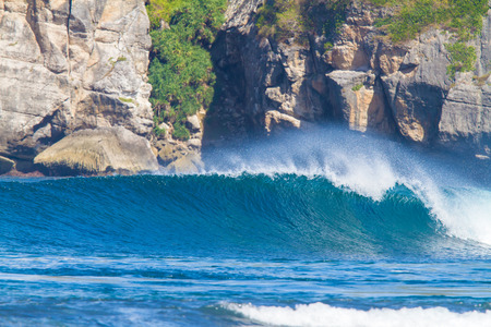 Picture of Ocean Wave.Sumbawa Island. Indonesia. Stock Photo