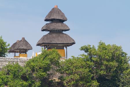 View of Pura Uluwatu temple in Bali island, Indonesia photo
