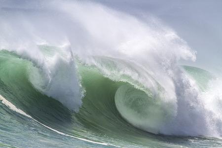green  wave: Ocean Wave in Indian Ocean. Stock Photo