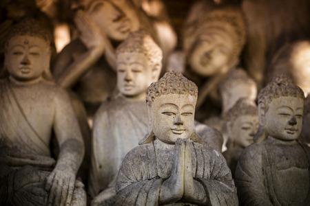 stone buddha: The old stone Buddha statue. Indonesia, Bali.