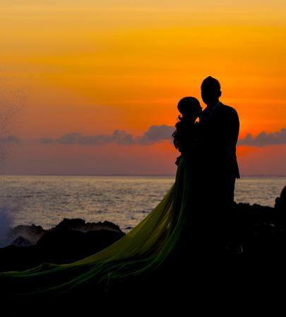 Beautiful sea and coastlines of Gili islands, Indonesia. Stock Photo