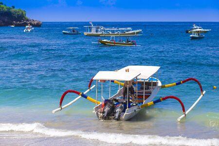 nusa: Tropical coastline of Nusa Penida island. Bali. Indonesia. Stock Photo